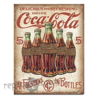 CEDULE COCA COLA 5 BOTTLES RETRO