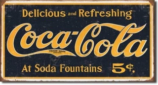 Cedule Coke 1910 logo weathered